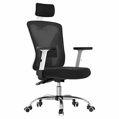 Hbada Ergonomic Office Desk Chair with Adjustable Armrest, Lumbar White