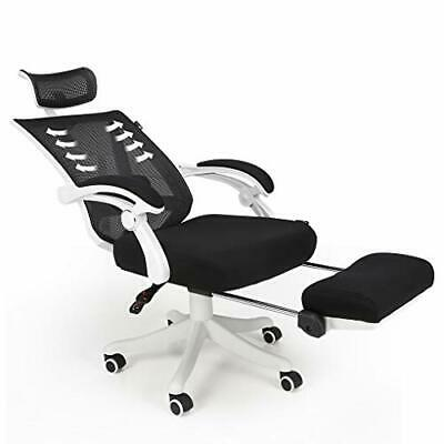 Hbada Reclining Office Desk Chair | Adjustable High Back Ergonomic White