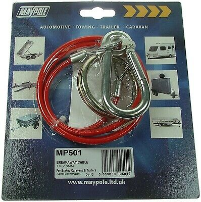 Breakaway Cable Pvc Red 1m X 3mm MP501 Maypole Genuine Top Quality Product New