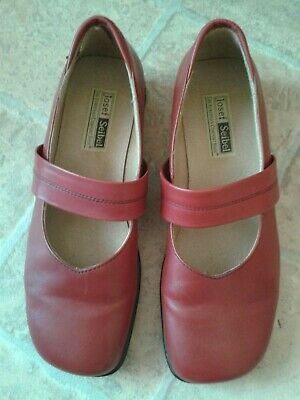 Josef Seibel 'Kelly' Leather Shoes : Hibiscus : Size EU39/UK6 : Great Condition