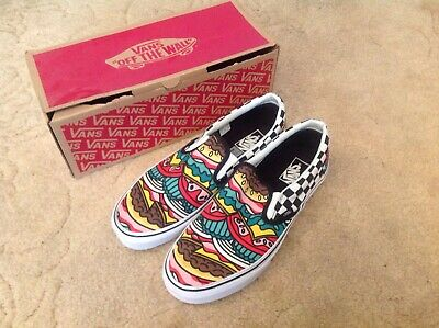 Vans Classic Slip On Size 10 UK US11 Euro 44.5 Late Night Burger Check