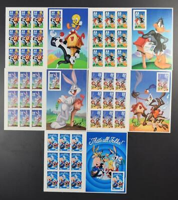 Us Postage Lot 5 Different Looney Tune Sheets Of 10 3137 // 3534 (Imperf???)