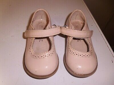 Baby Girls Light Pink Velcro Fastening Shoes By Next Infant Size 4