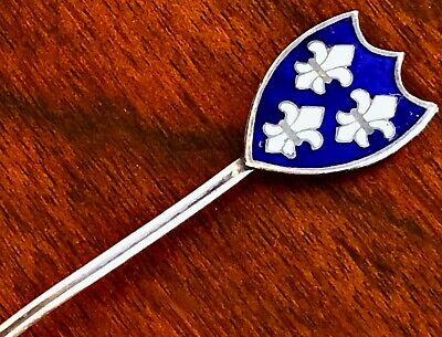 - Canadian Sterling Silver & Enamel Souvenir Salt Spoon For Montreal