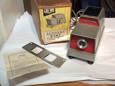Vintage Gnome Alphaxi Baby Projector And App 65 Slides With Original Box