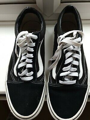 VAN Old Skool Skate Shoes Black/White All Size Classic Canvas Sneakers UK Size 8