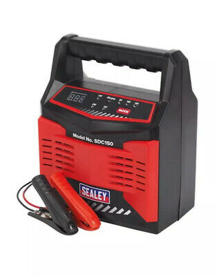 Sealey SDC150, Intelligent Battery Charger 12/24 Volt 15 Amp 230 Volt, Automatic