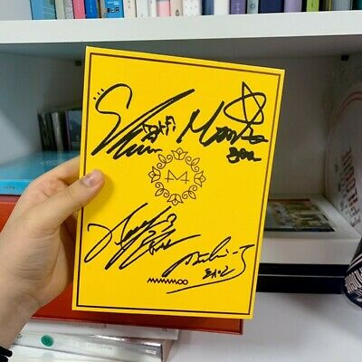 Mamamoo Wheein Moonbyul Solar Official 6th Mini Album Yellow Flower Autograph