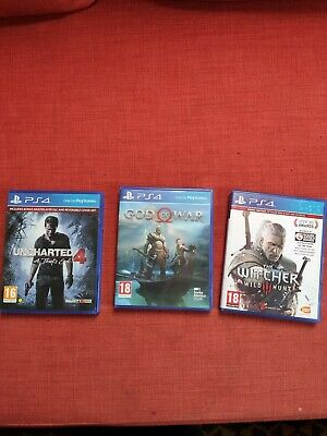 Witcher 3, God Of War, Uncharted 4 PS4 Games Bundle