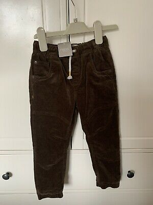Next Boys Brown Cord  Trousers Age 4-5 Years Bnwt