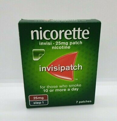 Nicorette Invisipatch 25mg Nicotine Patch Step 1 7 Patches - BRAND NEW & IN DATE