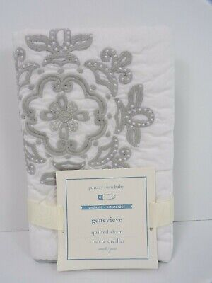 Pottery Barn Baby Genevieve Small Quilted Sham Gray #6371