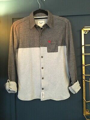 Boys Abercrombie & Fitch Jersey Light & Dark Grey Shirt  Age 15-16