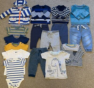 Bundle Of Boys Clothes Tshirts Jacket Joggers Jeans Jumpers 6-9 Months Next TU