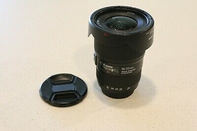 Canon EF 16-35mm f/4L IS USM Wide Angle Zoom Lens w/ Lens Hood