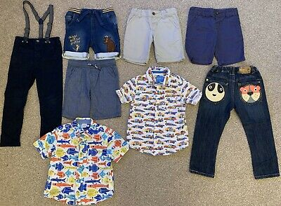 Bundle Of Boys Clothes Trousers Jeans Shorts Shirts 2-3 Years Next M&S Gruffalo