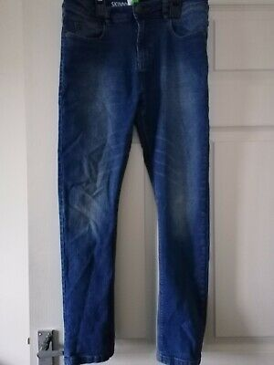 NEXT BOYS BLUE SKINNY JEANS - AGE 13 Years PLUS Adjustable waist