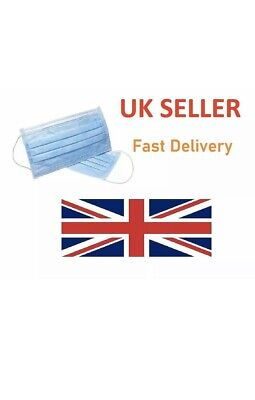 10X 3 layers Disposable SURGICAL EARLOOP FACE DUST Flu Medical MASK VIRUS