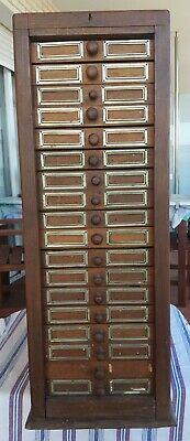 Antiguo Archivador De Madera,  Old Filing Cabinet With Drawers Early Xx Cent.