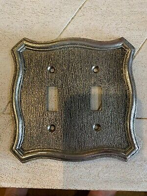 Old Light Switch Cover Brass Color Metal