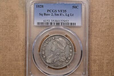 1828 Capped Bust Half Dollar Pcgs Vf-35