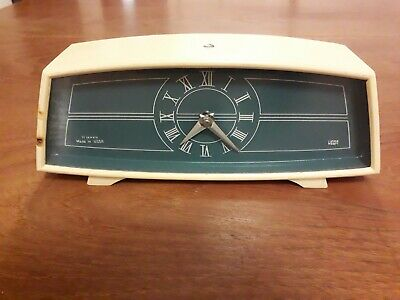 Vintage clock Made in the old USSR by Vega Wind up mechanism