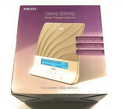 HoMedics  Deep Sleep Therapy Machine White Noise Device LCD Timer HDS-2000 Works