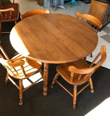 Tell City Maple Dining Set Table Four Chairs #48 Andover
