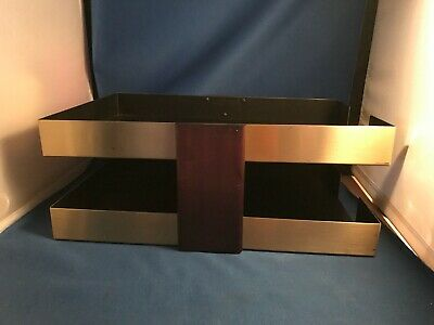 McDonald Smith Metal Arts Brass Two Tier Desk Tray William Sklaroff Design