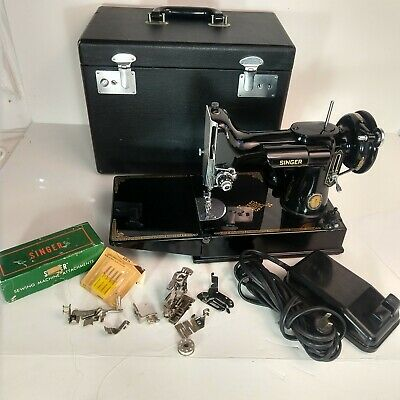 Vintage Singer Featherweight 221-1 1951 Centennial Sewing Machine