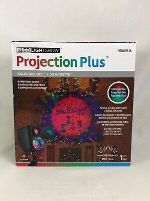 Gemmy Lightshow Projection Plus Slideshow Kaleidoscope Silhouette Star Christmas