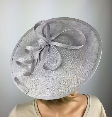 Silver Pale Grey Fascinator Wedding Occasion Hatinator Mother Of The Bride Races