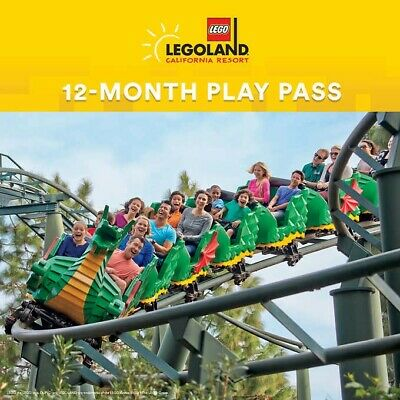 LEGOLAND California Resort 12-Month Play Pass, Plus Two 1-Day Buddy Tickets
