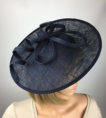 Navy Dark Blue fascinator Wedding Hatinator Mother Of The Bride Ascot Races Hat