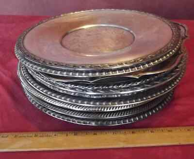 LOT 13 metal restaurant trays dishes plates service platters silverplate silver