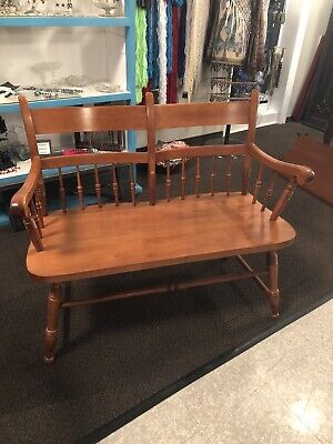 Tell City Maple Bench Love Seat