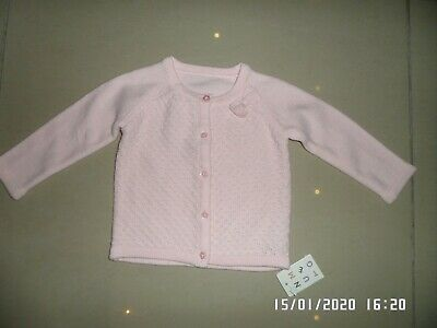 New With Tags Nutmeg Baby Girls Pink Cardigan 3-6 Months