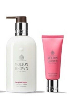 ✨Molton Brown Gift Set ~ Fiery Pink Pepper Hand Lotion 300ml & Hand Cream 40ml✨