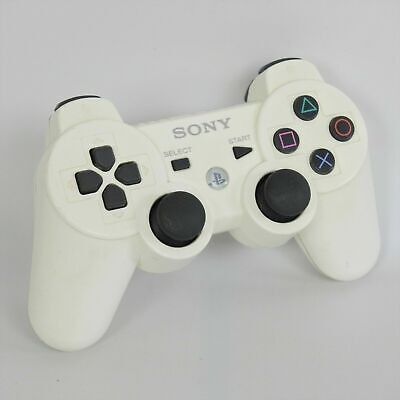 Original Sony PS3 Wireless Controller Dual Shock 3 White (Fast Free Shipping)