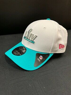 Super Bowl Liv Miami  New Era White/Teal Hat With Adjustable Sizing