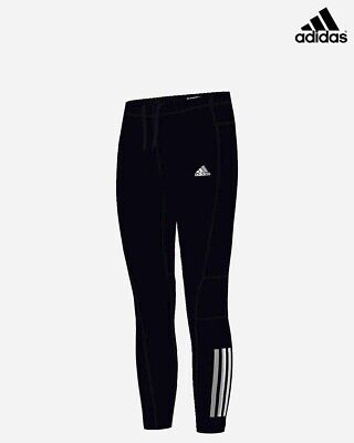 adidas climacool Long Running Tights, Black/Reflective Silver, 15-16 Years 176cm