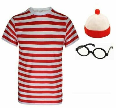 Child Wheres Wally Instant Kid Book Week Day Boys Girls Fancy Dress Costumes Kid