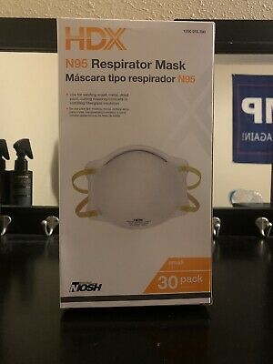 NIOSH N95 Disposable Respirator Mask HDX. (30/box) SMALL FREE FAST SHIPPING!