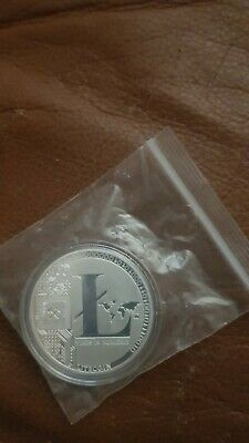 New 2018 Bitcoin Physical Collectible Coin BTC Silver Plated 1 Ounce 40mm