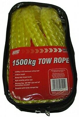 Tow Rope 4m X 1500kg 6091 Maypole Genuine Top Quality Product New