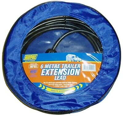 6m 12n Trailer Extension Lead 095 Maypole Genuine Top Quality Product New