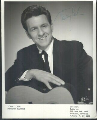 Tommy Cash autographed Musicor Records promo photo, 1965