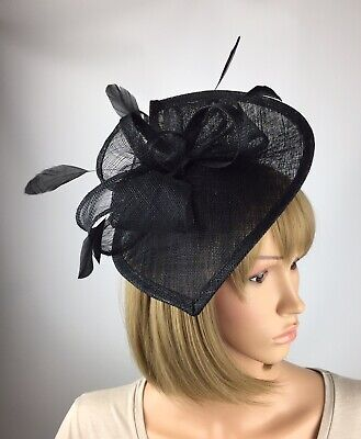Black Fascinator Hat Wedding Occasion Statement Mother Of The Bride Ascot Races
