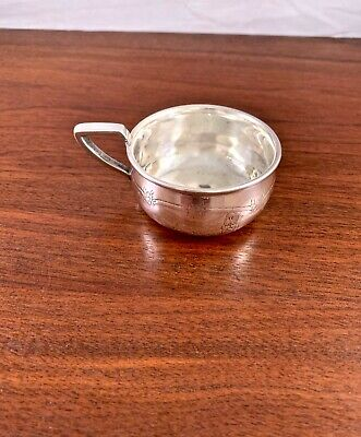 Weidlich Sterling Silver Nurery Rhyme Baby Cup Humpty Dumpty, Cat & Fiddle 1930