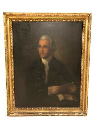 Early 19th Century Antique Gentleman Man Portrait Oil Painting 9e